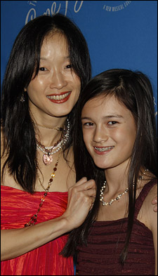Rika Okamoto and daughter Wayan