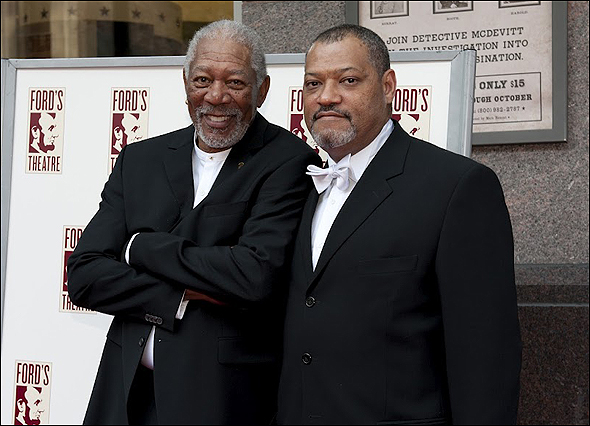 Morgan Freeman with Laurence Fishburne
