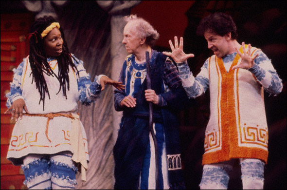 Whoopi Goldberg, William Duell, and Ross Lehman