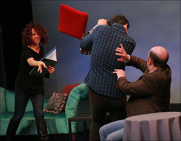 Janet Dacal, Santino Fontana and Steve Routman
