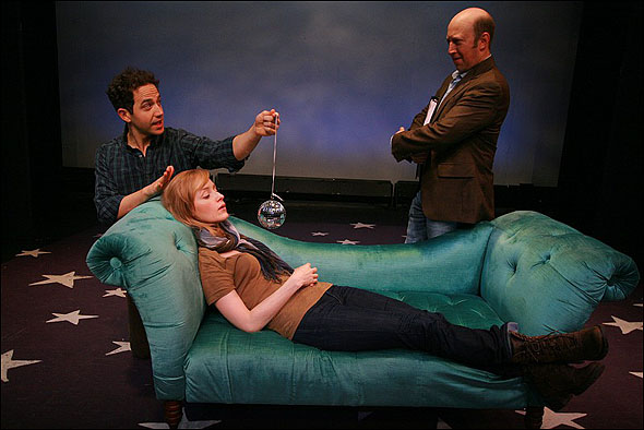 Santino Fontana, Erin Davie and Steve Routman