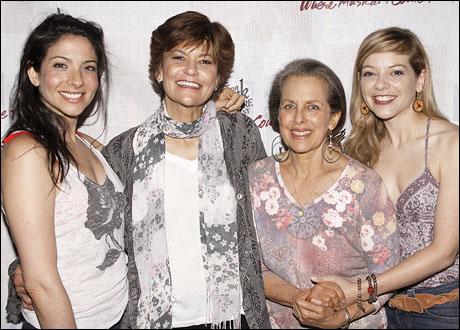 Lisa Birnbaum, Margot Rose, Betty Aberlin and Jillian Louis