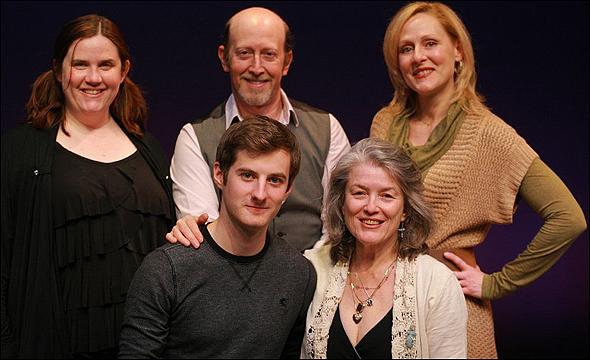Donna Lynn Champlin, Steve Routman, Donna English, (seated) Matt Dengler and Cass Morgan