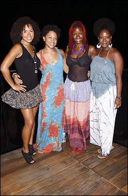 Tanesha Ross, Shaleah Adkisson, Lulu Fall and Phyre Hawkins