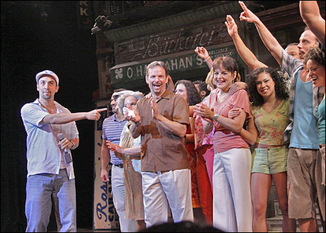 Lin-Manuel Miranda and the cast of In The Heights