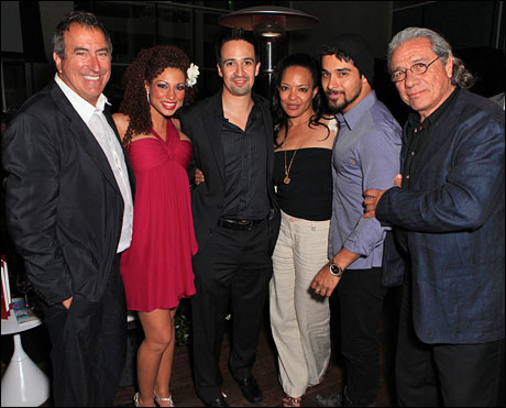 Kenny Ortega, Sabrina Sloan, Lin-Manuel Miranda, Dawn Lewis, Wilmer Valderrama and Edward James Olmos