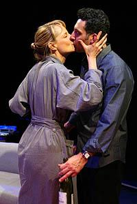 Helen Hunt and John Turturro in a scene from <I>Life x 3</i>.