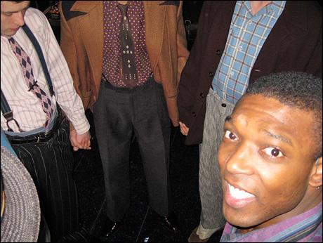 Tyrone Jackon... NOT praying in the prayer circle. Hail Mary....