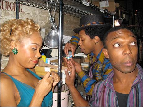 In the candy corner: Dionne Figgins, Tyrone Jackson, Preston Dugger.