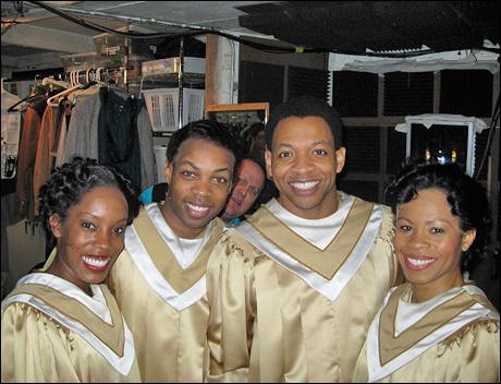 Sing choir!! Sang!! Me with Tanya Birl, Todrick Hall and Bahiya Gaines.