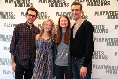 Adam Chanler-Berat, Patti Murin, Allison Case and Bryce Ryness