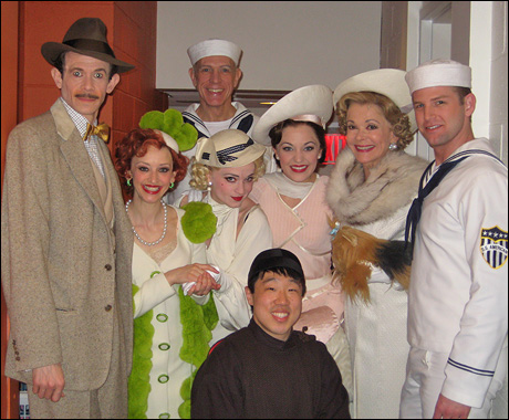 The stage right group poses for a quick photo before embarking on the S.S. American.