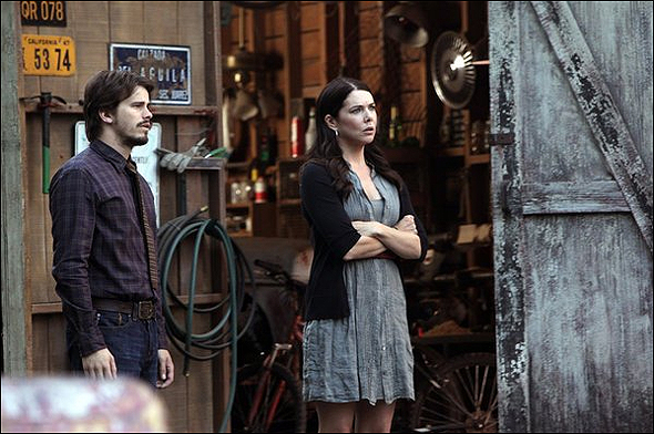 """Jason Ritter, Outstanding Guest Actor in a Drama Series Nominee as """"Mark Cyr"""" in Parenthood, shown here with Lauren Graham."""