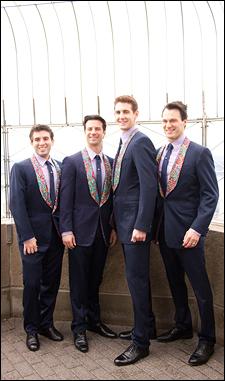 Jarrod Spector, Dominic Nolfi, Ryan Jesse and Matt Bogart pose atop the Empire State Building