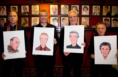 Marshall Brickman, Rick Elice, Bob Gaudio and Frankie Valli