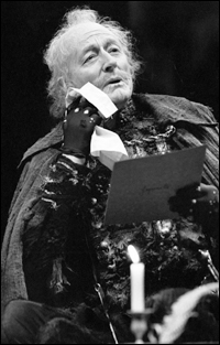 John Neville in <i>Love's Labour's Lost</i> at the Stratford Shakespeare Festival, 1984.
