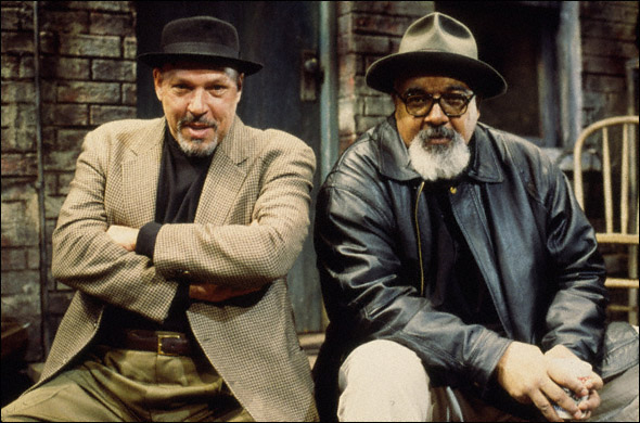 Marion McClinton and August Wilson in a promotional shot