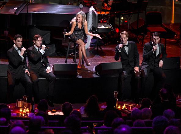 Constantine Germanacos, Tyler Hanes, Kristin Chenoweth, Will Taylor and Johnny Stellard