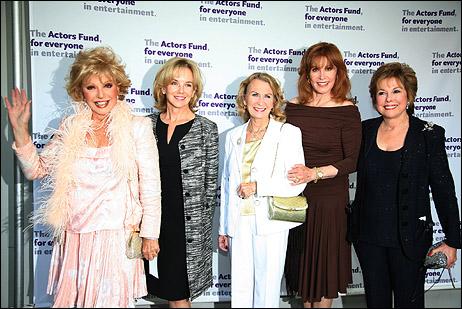 Ruta Lee, Linda Purl, Juliette Mills, Stefanie Powers and Kate Edelman Johnson