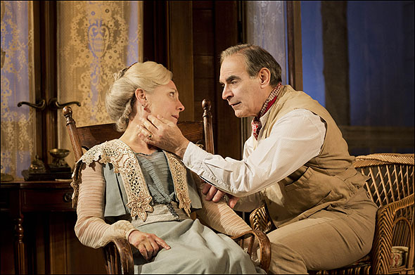 Laurie Metcalf and David Suchet