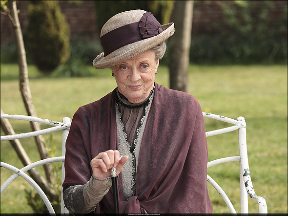 """Dame Maggie Smith, Outstanding Supporting Actress in a Drama Series Nominee as """"Violet, Dowager Countess of Grantham"""" in Downton Abbey."""