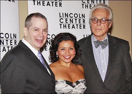 Peter Bartlett, Justina Machado and John Guare
