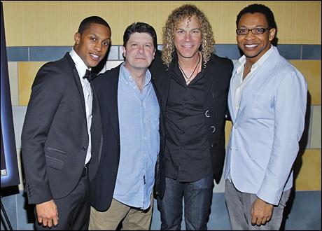 Preston W. Dugger III, Michael McGrath, musician and composer David Bryan and Derrick Baskin