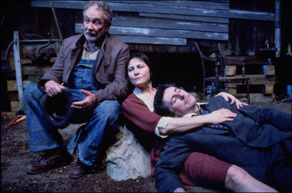Roy Dotrice, Cherry Jones, and Gabriel Byrne