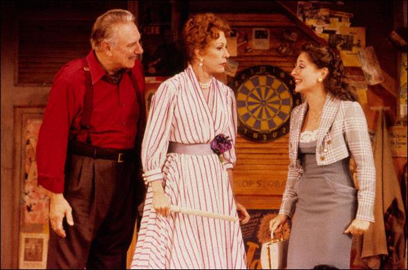 Philip Bosco, Carol Burnett, and Kate Miller