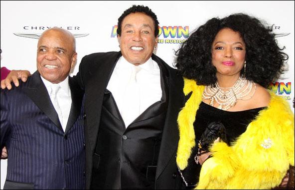 Berry Gordy, Smokey Robinson and Diana Ross