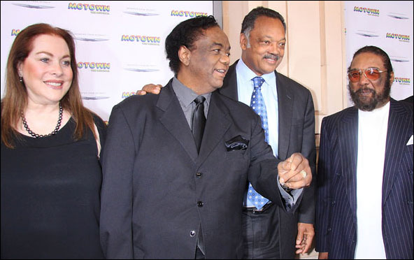 Barbara Dozier, Lamont Dozier, Jesse Jackson and Brian Holland