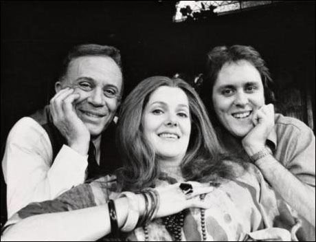 John Lithgow with George Rose and Lynn Redgrave in My Fat Friend, 1974