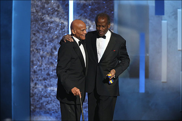Harry Belafonte and Sidney Poitier