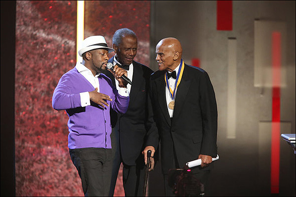 Wyclef Jean, Sidney Poitier and Harry Belafonte