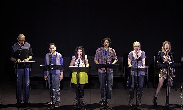 William Ryall, Robin De Jesus, Sarah Stiles, Damon Daunno, Nancy Opel, and Nicolette Hart in Bleeding Love