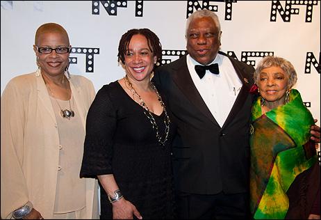 Terrie Williams, S. Epatha Merkerson, Woodie King Jr. and Ruby Dee