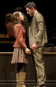 Cristin Milioti and Steve Kazee in <i>Once.</i>
