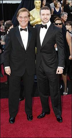 Aaron Sorkin and Justin Timberlake