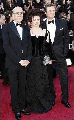 Geoffrey Rush, Helena Bonham Carter and Colin Firth