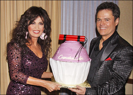 Marie Osmond and Donny Osmond celebrate Donny's 53rd birthday