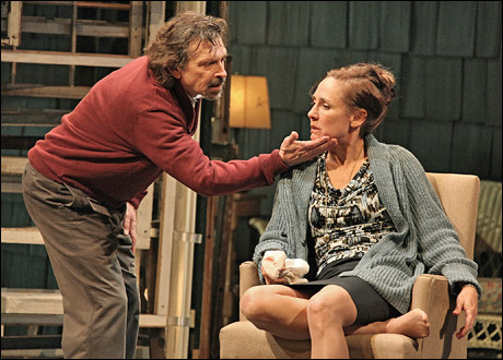 Dennis Boutsikaris and Laurie Metcalf