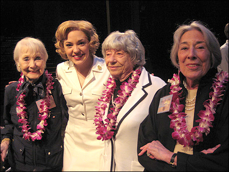 Iva Withers, Laura Osnes, Alice Hammerstein and Mary Rodgers