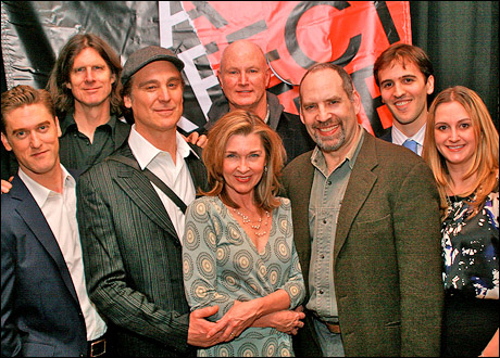 Scott Drummond, Wilson Milam, Michael T. Weiss, Donna Bullock, David Hay (rear), Daniel Oreskes, Andy Sandberg and Whitney Hoagland Edwards