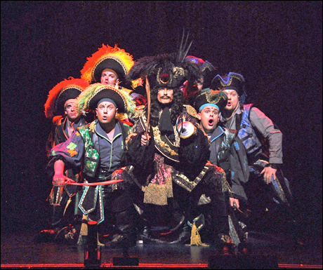 David Hasselhoff and the cast of Peter Pan