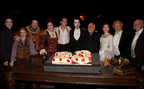 Harold Prince and cast