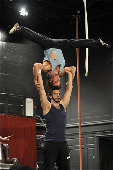 Yannick Thomas and Greg Arsenal