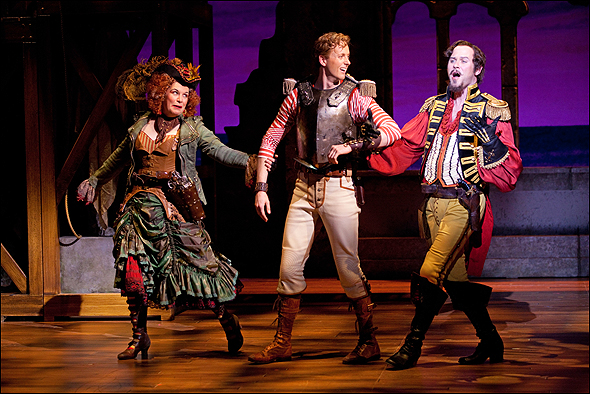 Gabrielle Jones, Kyle Blair and Sean Arbuckle in The Pirates of Penzance