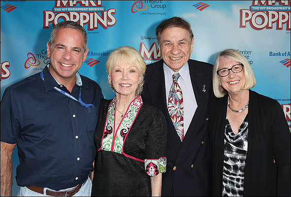 Jack Eldon, Elizabeth Sherman, Richard M. Sherman and Pam Young