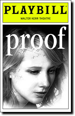 Playbill cover for Proof, featuring Anne Heche.