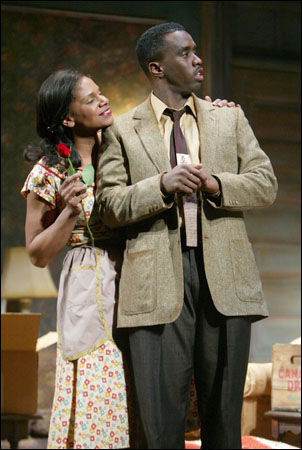Audra McDonald and Sean Combs in A Raisin in the Sun, 2004